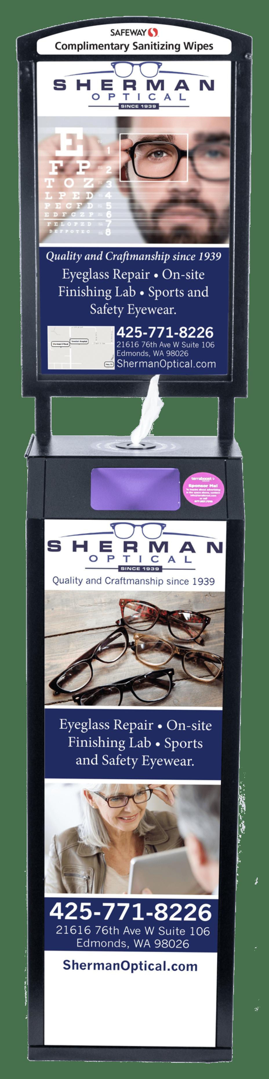 sherman optical wellness billboard ad
